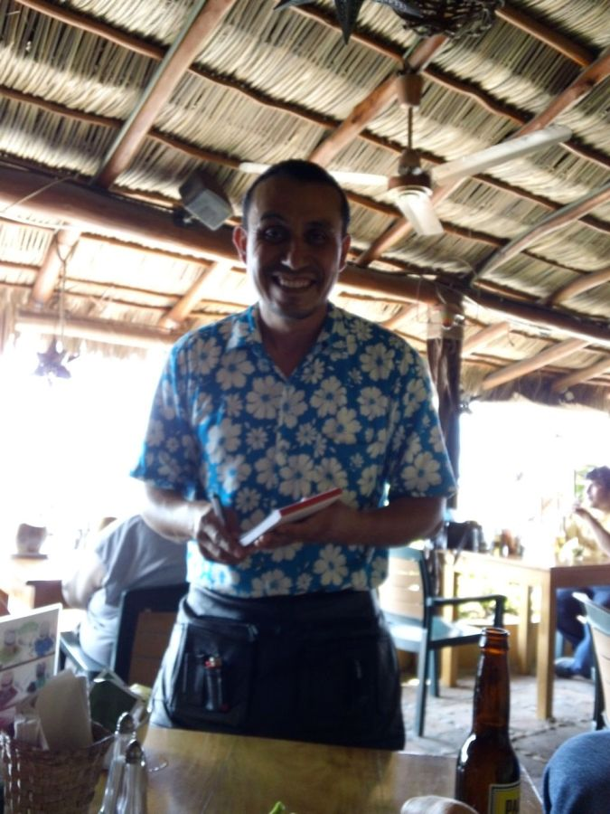 Our Waiter at a PV beachside restaurant